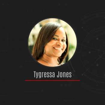 """""""The environment at Arlo is rewarding because our work matters. We delve into some of the government's greatest challenges, and I know that our ideas make a difference and help our country."""" -Tygressa Jones, Chief of Staff & Sr. Director of Operations"""